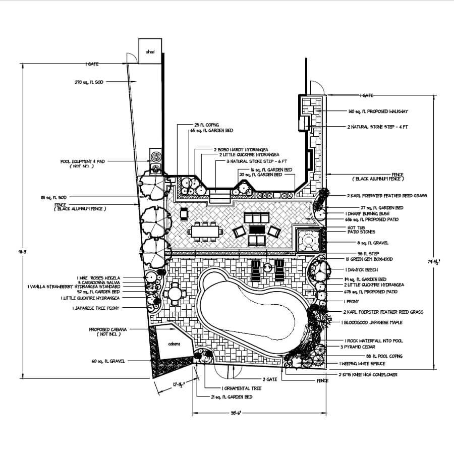2D Landscape Design Rendering