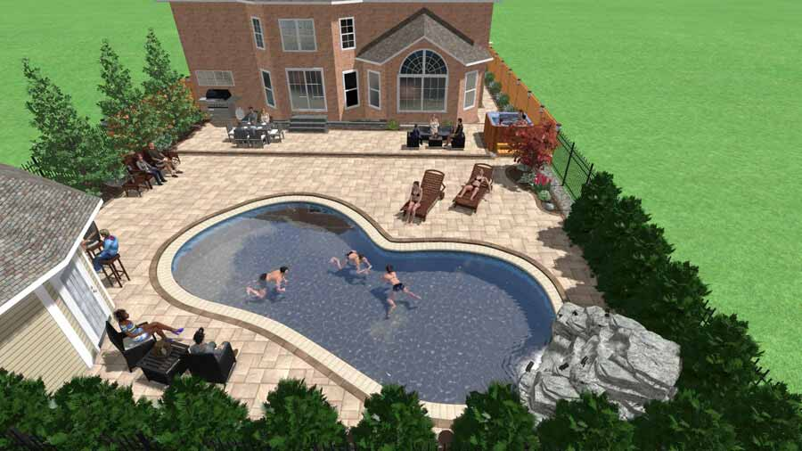 3D Colour Landscape Design Rendering