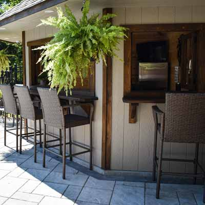 Backyard Kitchens & Barbecue Areas Landscaping