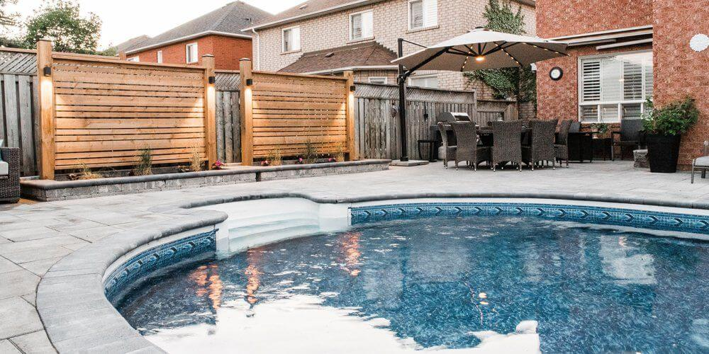 Whitby Backyard Patio Poolscapes Design Installation Companies Whitby