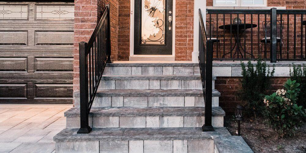 Custom Natural Stone Steps In Pickering, ON.
